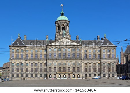 Royal palace amsterdam stock images royalty free images vectors amsterdam may 27 royal palace at the dam square on may 27 2013 publicscrutiny Choice Image