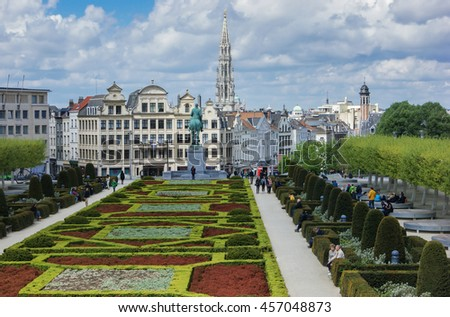 AMSTERDAM, NETHERLANDS - APRIL 30, 2015: Panoramic views of the city park
