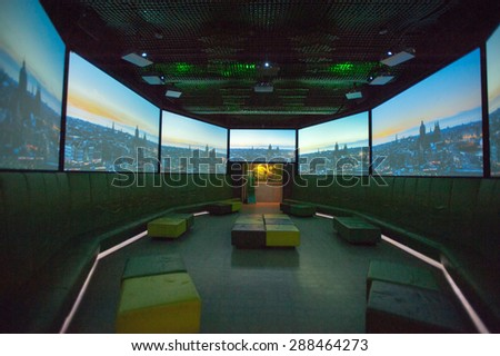 AMSTERDAM, NETHERLANDS - JUN 3, 2015: Heineken Experience center, a historic brewery for Heineken beer. Gerard Adriaan Heineken was a founder of the Heineken beer