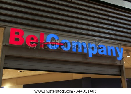 Amsterdam, Netherlands-november 26, 2015: BelCompany is a retail chain that focuses on the sales of mobile phones and accessories this store is located in Amsterdam