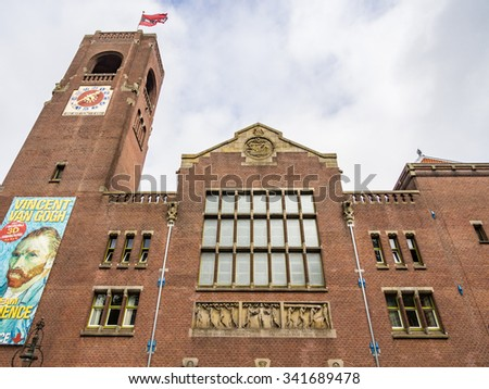 AMSTERDAM, NETHERLANDS - SEP 2: Beurs van Berlage in Amsterdam, Netherlands on September 2, 2013. Beurs van Berlage is a hundred years old former building of the Stock Exchange in Amsterdam. - stock photo