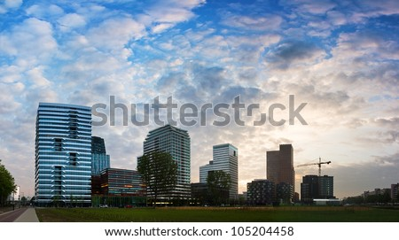 Amsterdam south buildings - stock photo