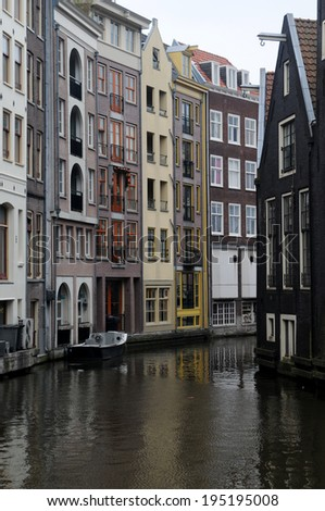 Amsterdam-The Netherlands April 26, 2014 - photos of tourist sites in Holland