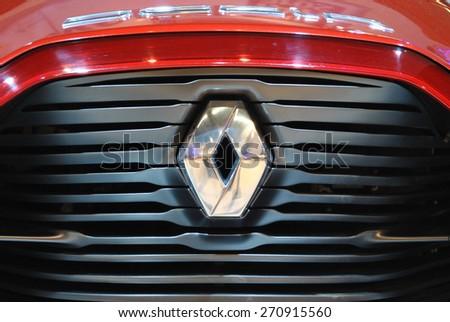 AMSTERDAM, THE NETHERLANDS, 17 APRIL 2015 - Renault Dezlr concept car at AutoRai, Amsterdam. - stock photo