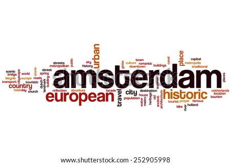 Amsterdam word cloud concept - stock photo