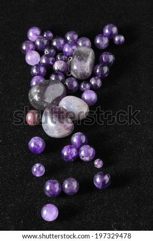 Amulet Amethyst Stone Ready to Make Handmade Jewelry - stock photo