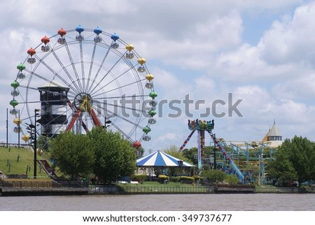 Amusement park on the banks of the Tigre River