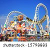 Amusement park rides - stock photo