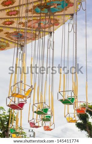 amusement park rides - stock photo