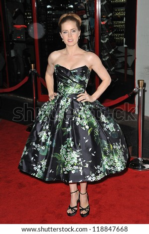"""Amy Adams at the AFI Fest premiere of her movie """"On The Road"""" at Grauman's Chinese Theatre, Hollywood. November 3, 2012  Los Angeles, CA Picture: Paul Smith - stock photo"""
