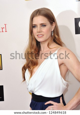 Amy Adams at the 18th Annual Critics' Choice Movie Awards at Barker Hanger, Santa Monica Airport. January 10, 2013  Santa Monica, CA Picture: Paul Smith