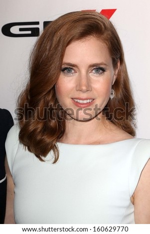 Amy Adams at the 17th Annual Hollywood Film Awards Backstage, Beverly Hilton Hotel, Beverly Hills, CA 10-21-13 - stock photo