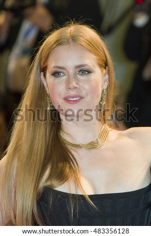 Amy Adams attending the premiere of 'Arrival' during the 73rd Venice Film Festival at Sala Grande in Venice, Italy on 01 September 2016.