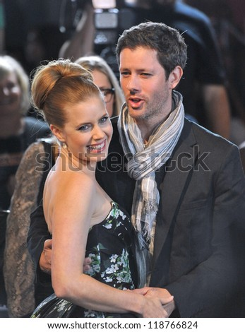 """Amy Adams & fiance Darren Le Gallo at the AFI Fest premiere of her movie """"On The Road"""" at Grauman's Chinese Theatre, Hollywood. November 3, 2012  Los Angeles, CA Picture: Paul Smith - stock photo"""