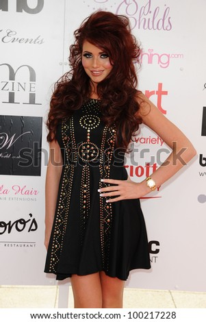 Amy Childs arrives for Essex Fashion Week SS12 at CEME Conference Centre, Dagenham, London. 09/04/2012 Picture by: Steve Vas / Featureflash