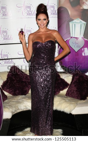 Amy Childs launches her perfume 'Amy Childs' at Aura, London. 15/08/2012 Picture by: Alexandra Glen