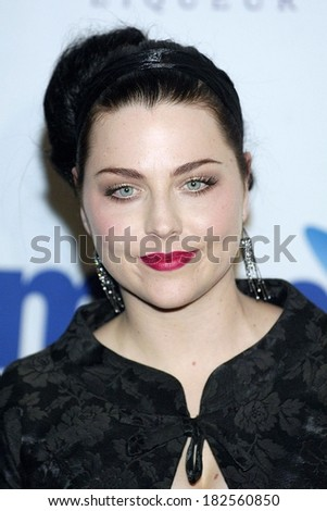 Amy Lee of Evanescence at Clive Davis Pre-Grammy Party, Beverly Hilton Hotel, Los Angeles, CA, February 09, 2008 - stock photo