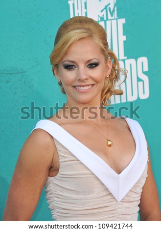 Amy Paffrath at the 2012 MTV Movie Awards at Universal Studios, Hollywood. June 4, 2012  Los Angeles, CA Picture: Paul Smith / Featureflash - stock photo