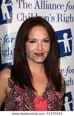 Amy Yasbeck at the 18th Annual Alliance for Children's Rights Dinner Gala, Beverly Hilton Hotel, Beverly Hills, CA. 03-10-11 - stock photo