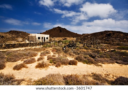 an abandoned farm on the island of Los Lobos, near Fuerteventura