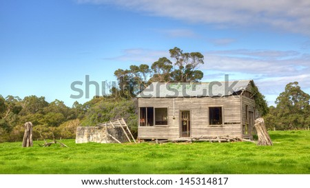 An abandoned farmhouse near the hamlet of Karridale in the Margaret River region of Western Australia.