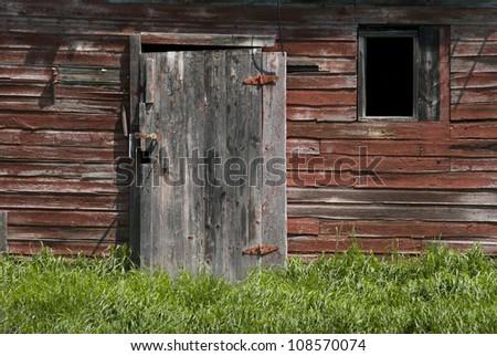 An abandoned farmhouse outside of Minnedosa, Manitoba, Canada. - stock photo