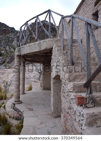an abandoned house in cordillera de los frailes in bolivia