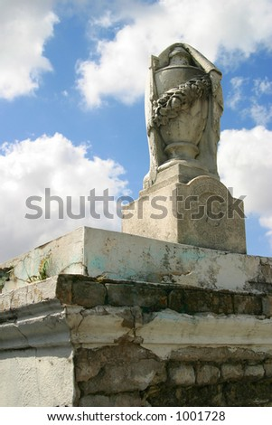 An above ground tomb in New Orleans - stock photo