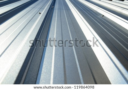 An abstract background Corrugated sheet perspective and geometry - stock photo
