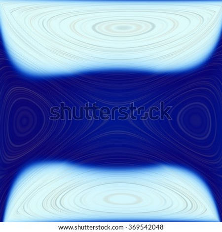 An abstract background with blue and white lines with reflection