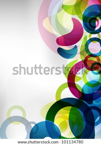 an abstract colorful background for design