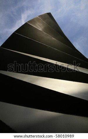 an abstract cooling vent - stock photo