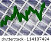 An abstract 3d illustration of a chart with dollar and percentage symbols / Chart percent - stock photo