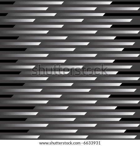 An abstract illustration of a seamless, repeating pattern representing motion and speed in black and gray.