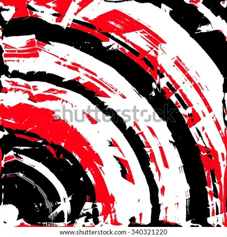 An abstract illustration of grunge target sign - stock photo