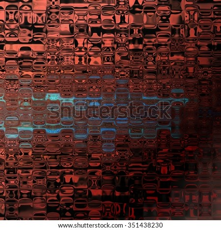An abstract illustration of orange and blue translucent glass tiles