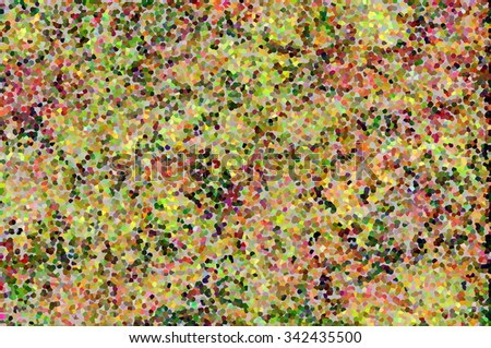 An abstract multicolored pattern designed in tints of green, yellow and lilac colors - stock photo