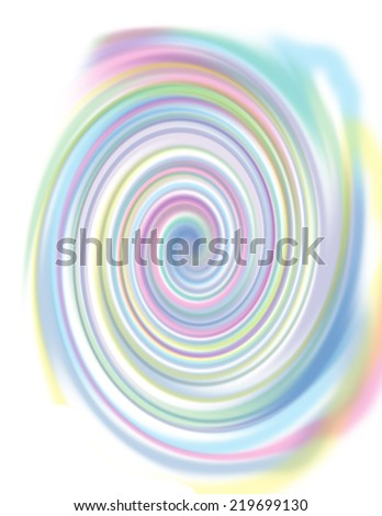 An abstract pastel colored spiral background - stock photo