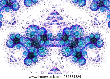 An abstract pattern reminiscent of the zodiac sign Aries. Fractal art graphics  - stock photo