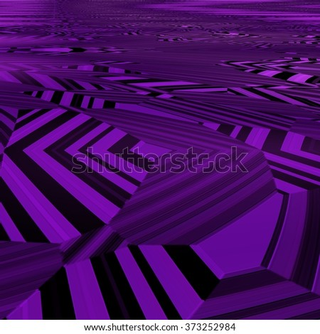 An abstract purple and black geometric figures - stock photo