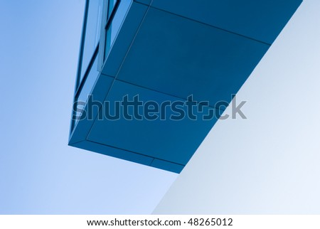 An abstract shot of a corporate building.