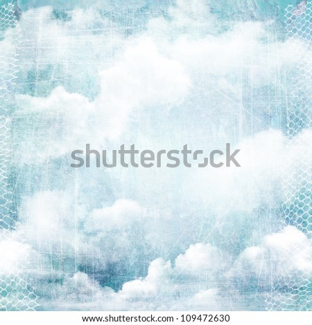 An abstract vintage texture background with clouds. Page to design photo books, album. - stock photo