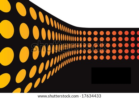 An abstract wall of colorful dots arranged in a three dimensional way. - stock photo