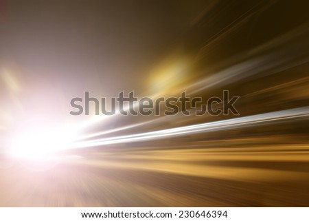 An accident at excessive speed - stock photo