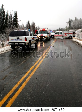 an accident scene - stock photo