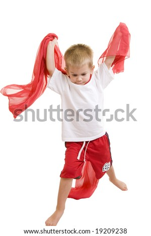 An adorable three year old playing. - stock photo