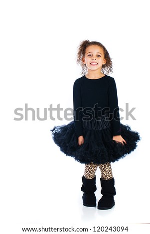 An adorable young girl - stock photo