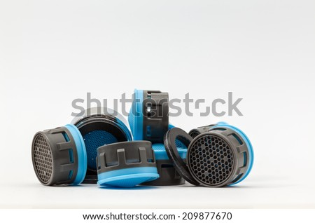 An aerator is officially called a foam jet nozzle and is designed to save water. - stock photo