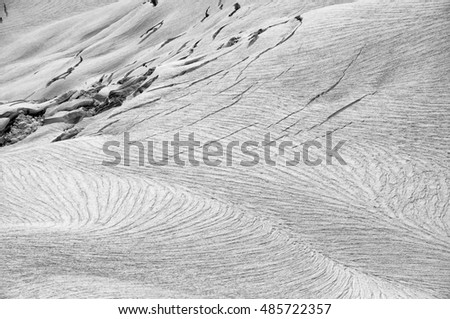 An Aerial View of a Frozen Glacier
