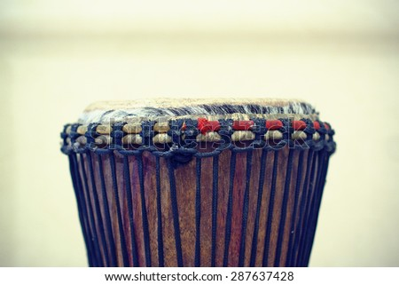An African drum. - stock photo